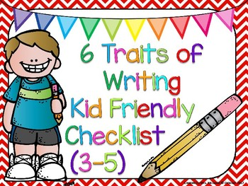 6 Traits of Writing Posters (Grades 3-5)