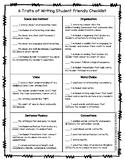 6 Traits of Writing Checklist (Grades 3-5)