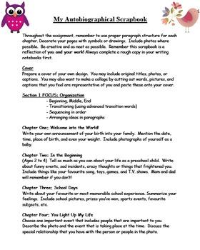 6 Traits of Writing Creative Scrapbook Unit