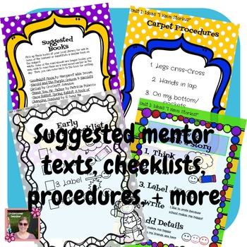 Writer's Workshop: Writing All Year Long {Unit:1-Making Ideas}