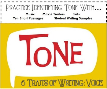 6 Traits of Writing Voice & Tone PPT
