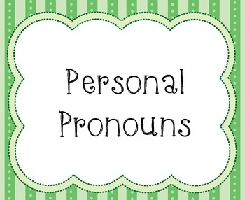 6 Types of Pronouns Sort - Station Activity AND Word Wall Printables