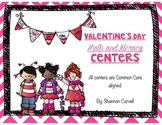6 Valentine's Day Literacy and Math Centers