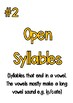 6 Syllable Types (Posters with examples)
