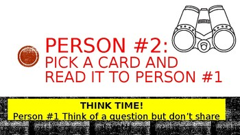 6 W Question Fan & Pick Cooperative Learning Activity