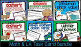 SCOOT 6 WINTER Math & LA Task Cards BUNDLE Game CC, centers