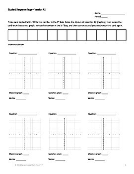 Graphing Quadratic Equation Bundle~Standard~Vertex~Factor~Intercept Form