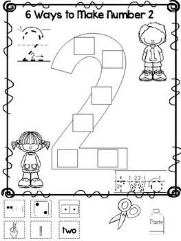6 ways to make numbers 1 10 printable worksheets in a pdf file preschool kdg. Black Bedroom Furniture Sets. Home Design Ideas