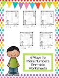 6 Ways to Make Numbers 1-10 Printable Worksheets in a PDF file.Preschool-KDG.