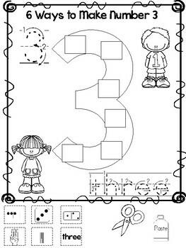 6 Ways to Make Numbers 1-10 Printable Worksheets in a PDF ...