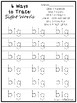 6 Ways to Trace Dolch Pre-Primer Sight Words Worksheets. Pre-K Sight Words.