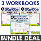 6-Week Literacy Packets BUNDLE: Distance Learning and Goog