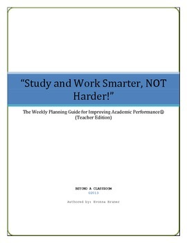 6-Week Study Skills and Note Taking CurriculumTeacher Edition-