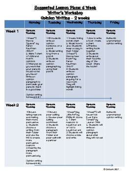 6 Week Writer's Workshop - Writing Test Prep