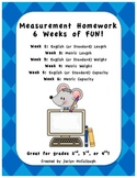 6 Weeks Worth of FUN Measurement Homework
