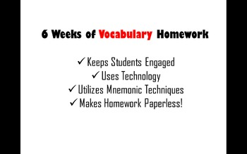 6 Weeks of Creative Technology-Based Vocabulary Activities