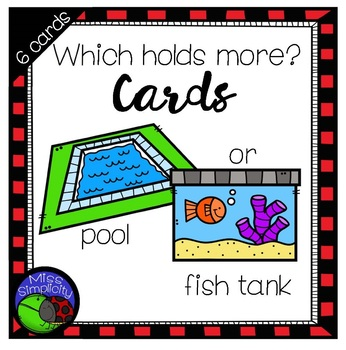 6 Which holds more? CARDS - print, cut, laminate and GO!