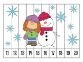 6 Winter Number Order Puzzles {FREEBIE}
