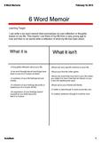 6 Word Life Memoir SMARTboard Lesson (Editable!)