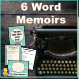 6 Word Memoirs ~ 30 minutes (or less) lesson plan