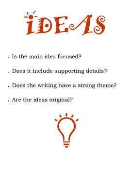 6 Writing Traits Posters