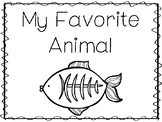 6 X-Ray Fish-My Favorite Animal Preschool Trace and Color Worksheets.