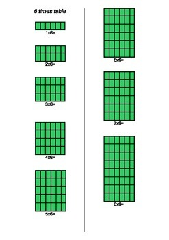 6 and 7 times tables with arrays