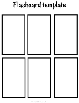 6 count flash card template