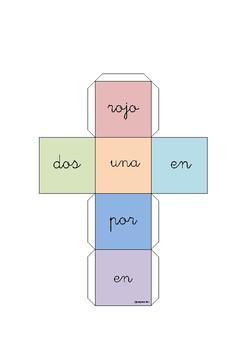 6 cubos para construir oraciones