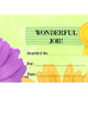 "6 Bright flower LABELS - editable - 8.5""x11"" - BONUS matching AWARD certificate"