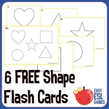 6 flashcards (5 shapes, 1 featuring all together)