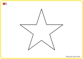 6 Free Shapes Flashcards (circle, square, heart, triangle and star)
