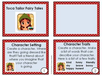 6 iPad Task cards for 1st & 2nd grade using a free app ~ Toca Tailor Fairy Tales