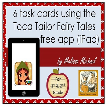 6 iPad Task cards for 1st & 2nd grade using a free app ~ T