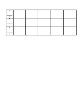 6 or 9 weeks behavior chart for special education or regular education