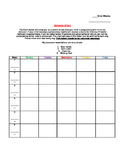 6 or 9 weeks behavior chart for special education or regul