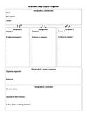 6-paragraph Persuasive Essay Graphic Organizer