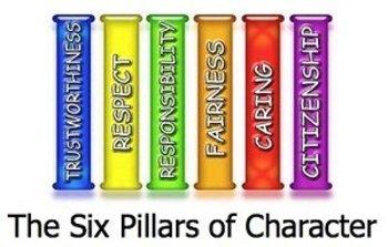 6 pillars of character sheet
