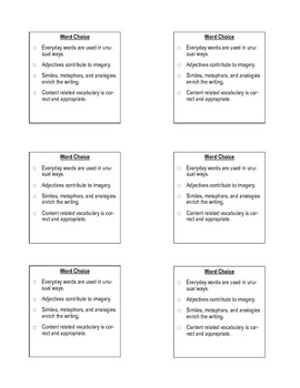 6 plus 1 Writing Traits Sticky Notes