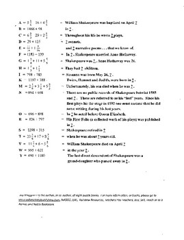 6 puzzle Taming of Shrew package,Shakespeare,2 crosswords,characters,2 vocab.