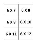 6's Multiplication Flashcards