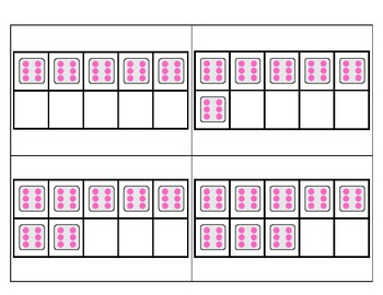 6's Subitizing Multiplication Flashcards
