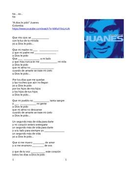 6 songs Present Subjunctive! Canciones Presente de Subjuntivo!