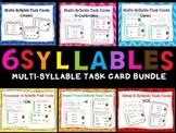 6 Syllable Task Cards Bundle Orton-Gillingham Dyslexia/RTI