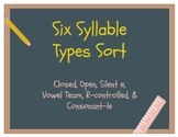 6 syllable Types Sort- Multisensory Orton Gillingham