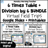 6 times table multiplication division activities print dig