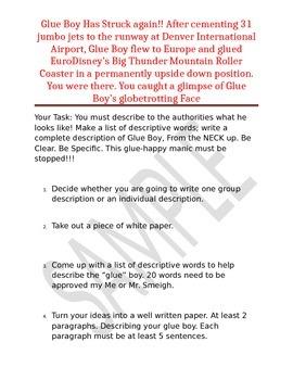 6 trait writing-describing activity