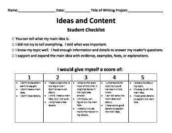 6 traits writing 4 point rubric