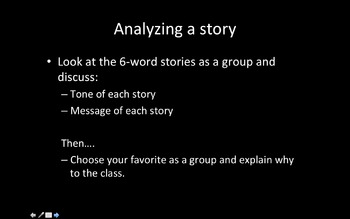 6-word stories introduction powerpoint