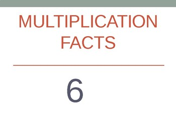 6 x Multiplication Flash Cards ppt